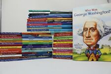 Lot of 10 Who/What/Where Was Biography History chapter books - Random/Unsorted