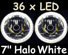 "1pr WHITE 7"" LED Landrover Series 1 2 2A 3 Land Rover Headlights Lights Hi/Lo H4"