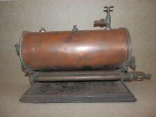 🌎 VERY RARE PRE 1900 STEVENS MODEL DOCKYARD BOILER PROJECT WITH TWIN GAS BURNER