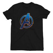 Avengers Endgame Heroic A Men's Black T-Shirt