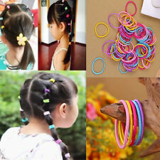 100pc Candy Colour Hair Holders Elastic Rubber Hair Band Tie Hair for Girl Women