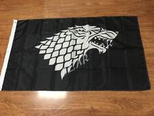 GAME OF THRONES STARK FLAG 3x5FT 90x150CM BLACK JON SNOW