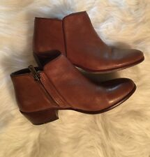 """Sam Edelman Petty Ankle Boots Brown Leather Upper, 1.75"""" Heel, Size 6M"""