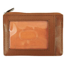 Leather Men's Women's RFID Wallet, Slim, CC, ID, Coin Pocket, Gift Box -Camel