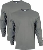 Gildan Men's Ultra Cotton Adult Long Sleeve T-Shirt, Pack of 2