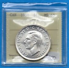 Canada 1938 $1 One Dollar Silver Coin - Better Date - ICCS MS-63