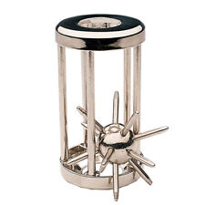 Trapped Satellite IQ Metal Cast Puzzle Caged Spiky Brain Teaser Game Toy Gift