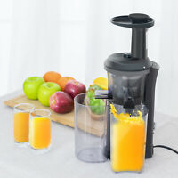 Cold Press Fruit Vegetable Juice Maker Slow Juicer Machine Masticating Extractor