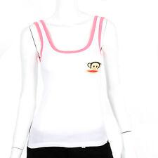 Paul Frank Extra Small $27 White Pink Rare Julius Tie Back PJ Sleep Tank Top NWT