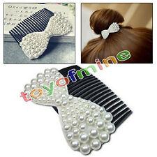 Mode coréenne bijoux perle arc en épingle à cheveux accessoire de peigne