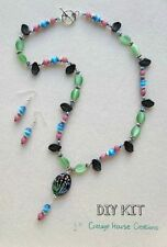 Meadow Lampworked Flower Focal Jewelry Making Supplies Necklace Bead Kit
