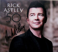 RICK ASTLEY * 50 * UK SIGNED 12 TRK CD * BN&M * KEEP SINGING * ANGELS ON MY SIDE