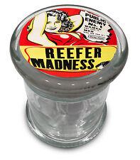 Reefer Madness film Big Glass Jar w/ lid Air Tight Seal Container 4.5' Big Retro