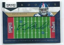 2012 Prominence David Wilson Field View AUTO AUTOGRAPH RC 56/150 GIANTS