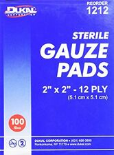 "Dukal 1212 White 12-Ply 2"" x 2"" Sterile Gauze Pads (DKL1212) Category: Bandages"
