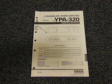 Yamaha YPA-320 Power Amplifier Original Service Manual