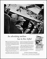 1942 Subway passengers J Walter Thompson Co adverts vintage photo print Ad adL91
