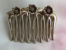 Sterling pins hair comb barrette floral & decortive vintage 3 flowers :)