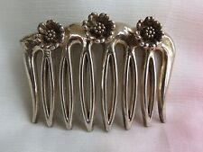 Sterling pins hair comb barrette floral & decortive vintage 3 flowers :)