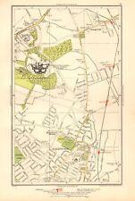 1936 LARGE SCALE LONDON MAP CLAYBURY HOSPITAL, BARKINGSIDE,