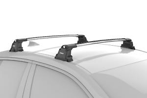 Turtle Silver Air 3 Premium Roof Rail Racks Cross Bar for BMW 3 Series E90 Sedan