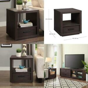Better Homes & Gardens Steele End Table With Drawer, Espresso Finish Easy assemb