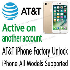 AT&T iPhone X 8 7 7+ 6s+ 6+ 6s 6 SE 5S ACTIVE ON ANOTHER ACCOUNT UNLOCK SERVICE