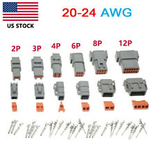 Deutsch Dtm 2346812 Pin Waterproof Electrical Wire Connector Kit 20 24 Awg
