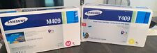 SAMSUNG TONER CARTRIDGES M409 ,Y409.       LOT OF 2 UNOPENED !
