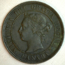 1901 Copper Canadian Large Cent Coin 1-Cent Canada XF #24