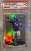 2014 Topps Chrome Refractor Teddy Bridgewater - PSA 9 Mint - PANTHERS QB!!