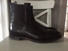 GUCCI Herrenschuhe Braun Boots Stiefeletten Gr 9/43 Original Top Leder