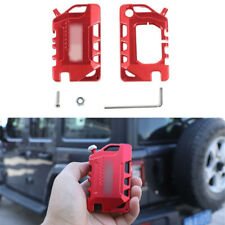 For Jeep Gladiator Jt/Jl 18-20, Alloy Key Fob Cover Case Protector Shell Red (Fits: Jeep)