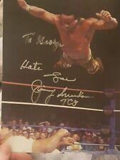 JIMMY SNUKA SUPERFLY WWF WWE SIGNED AUTOGRAPH 8X10 PHOTO