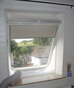 MASSANFERTIGUNG HOT AIR STOP für Dachfenster Schwingfenster bis 400 cm Umlauf