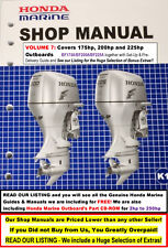 On Sale HONDA Outboard Service Manual Vol.7: 175hp+200hp+225hp FREE Extras-LOOK