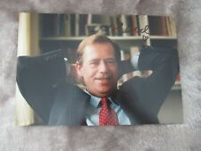 More details for vaclav havel hand signed photograph czech president