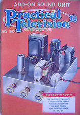 PRACTICAL TELEVISION MAGAZINE - July 1960 - Add-On Sound Unit