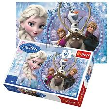 Trefl 60 Piece Kids Girls Disney Frozen Friends Anna Elsa Olaf Jigsaw Puzzle NEW