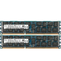 Hynix 16GB 2X8GB 2Rx4 PC3-10600R DDR3-1333MHz 240Pin ECC REG Server Memory RAM