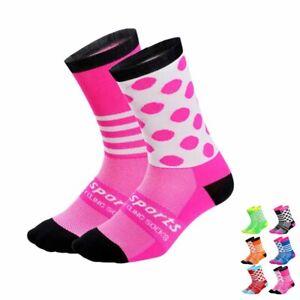 Pro Cycling Socks Mens Womens Ridiing Bicycle Sports Ankle Socks XC MTB BMX Pink