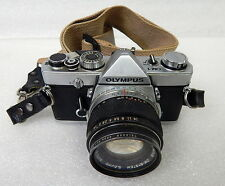 Olympus OM-1 35mm SLR Camera With 50mm Lens And Strap Made In Japan