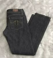 Anthropologie Level 99 Black Wash Mid Rise Straight Leg Jeans Women's 29