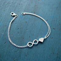 Infinity Armband Silber Gold Unendlichkeit Symbol Liebe Schmuck Herz