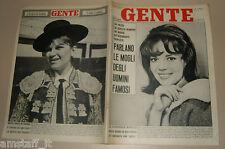 GENTE 1962/26=NATALIE WOOD=MILVA TORERA=CARLO BETOCCHI=GUALBERTO ROCCHI=CIGAGNA