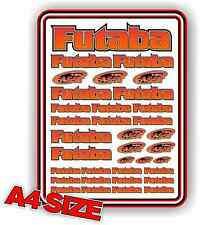 FUTABA RC STICKER SET DECAL HELI AIRCRAFT NITRO ELECTRIC CAR 1/10 ORANGE BLEND