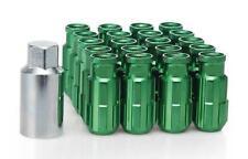 20 x GREEN D1 Aluminium Lock Lug Wheel Nuts (M12x1.5) with tool