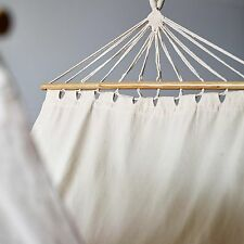 Collective Sol Lorne Hammock Cotton Hanging Bed Spreader Bar Cream Natural