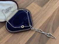 "Stunning 17"" Franco Pianegonda Hallmarked Silver & 18ct Gold LOVESICK Necklace"