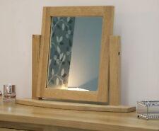 Eton solid oak modern bedroom furniture dressing table mirror